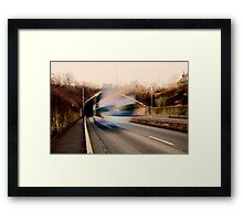 Speedy Bus Framed Print