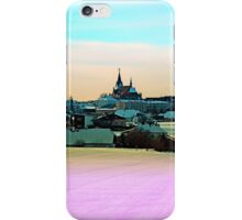 Village skyline in vibrant winter wonderland | landscape photography iPhone Case/Skin