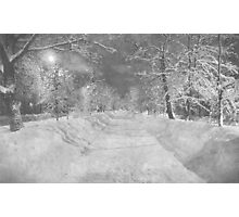 Wonderful winter night in Russia. Halftone effect. Photographic Print