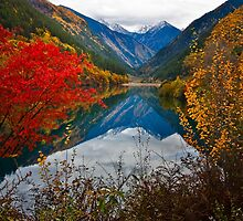 Autumn in Mirror Lake, Jiuzhaigou 秋临九寨沟 by Daniel H Chui