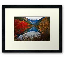 Autumn in Mirror Lake, Jiuzhaigou 秋临九寨沟 Framed Print