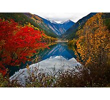 Autumn in Mirror Lake, Jiuzhaigou 秋临九寨沟 Photographic Print