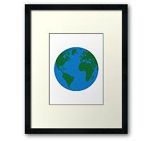 Globe Earth World map Framed Print