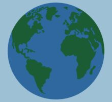 Globe Earth World map Kids Clothes