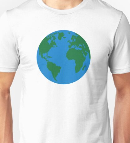 Globe Earth World map Unisex T-Shirt