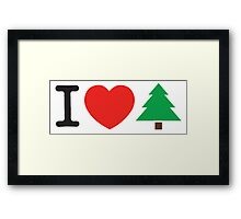I Love Tree Framed Print