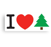 I Love Tree Canvas Print