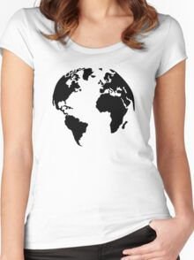 Earth world map Women's Fitted Scoop T-Shirt