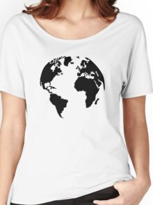 Earth world map Women's Relaxed Fit T-Shirt