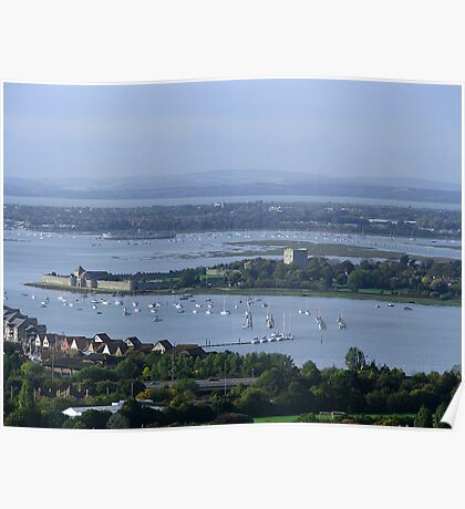 Portchester Castle from Portsdown Hill Poster