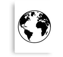 Globe Earth World Canvas Print