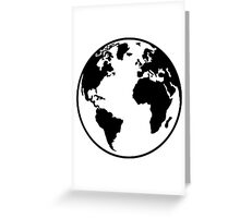 Globe Earth World Greeting Card