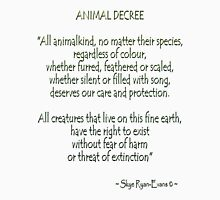 """Animal Decree"" Long Sleeve T-Shirt"