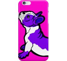 Boston Bull Terrier Puppy Purple iPhone Case/Skin