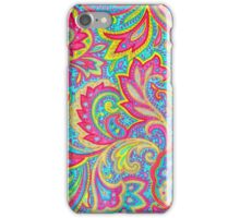 Colorful vintage paisley floral  iPhone Case/Skin