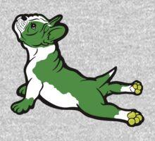Boston Bull Terrier Puppy Green  One Piece - Long Sleeve