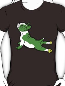 Boston Bull Terrier Puppy Green  T-Shirt