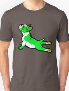 Boston Bull Terrier Puppy Green  Unisex T-Shirt