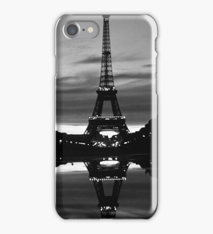 France Paris Eiffel tower reflection 1970 iPhone Case/Skin