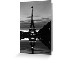 France Paris Eiffel tower reflection 1970 Greeting Card