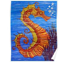 Mystical Horse of the Sea the Seahorse Poster