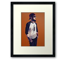 Polygonal Self-Portrait Framed Print
