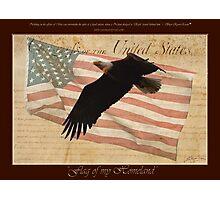 """Flag of my Homeland"" Photographic Print"