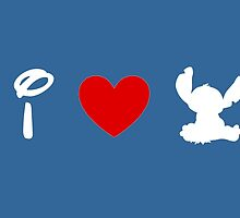 I Heart Stitch (Classic Logo) (Inverted) by ShopGirl91706