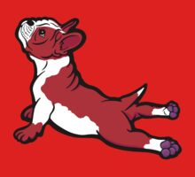 Boston Bull Terrier Puppy Red Kids Tee