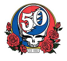 Grateful Dead Head Skull 50 years Photographic Print