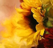 Sunflowers Impression Painting by Darlene Lankford Honeycutt