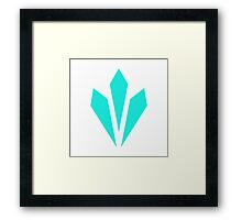 Vitality - Blue Framed Print