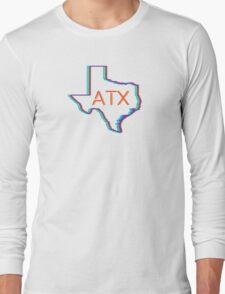 ATX Austin Texas Neon Lights Retro Long Sleeve T-Shirt