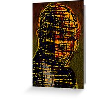 MAN IN THE BURBERRY MASK Greeting Card