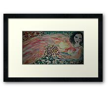 Girl in the meadow Framed Print