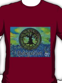 Rebelution Tree of Life #2 'Illuminated Side of Life' Beautiful Vibrant Moonlit SkyScape Band Art Psychedelic Landscape Design by CAP T-Shirt