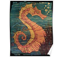 Mystical Horse of the Sea the Seahorse Vintage Poster
