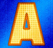 Retro Modern Alphabet - Letter A by Mark Tisdale