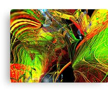 Three Layer Blender #2: Brainheart abstract (UF0362) Canvas Print