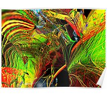 Three Layer Blender #2: Brainheart abstract (UF0362) Poster