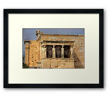 Porch of the Caryatids Framed Print