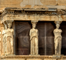 Porch of the Caryatids Sticker
