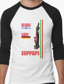 Ferrari 2015: Raikkonen, Vettel Men's Baseball ¾ T-Shirt
