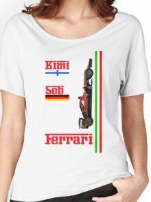 Ferrari 2015: Raikkonen, Vettel Women's Relaxed Fit T-Shirt