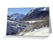 A white landscape Greeting Card