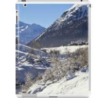 A white landscape iPad Case/Skin
