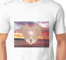 Angel Heart at sunset Unisex T-Shirt