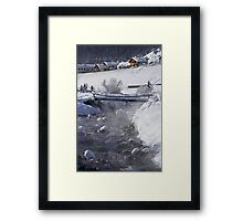A steamy river Framed Print
