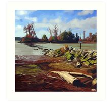 Shady Island - Steveston BC Art Print