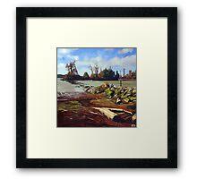 Shady Island - Steveston BC Framed Print